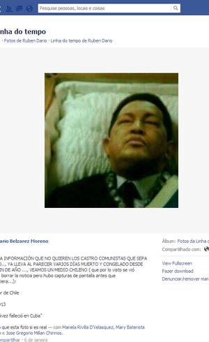 Suposta imagem de Hugo Chávez morto circula na internet