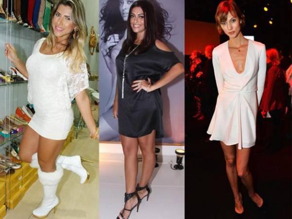 Grávida, atriz Juliana Paes mostra as pernas em evento de moda