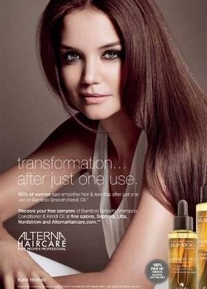Katie Holmes vira parceira de marca de produtos para os cabelos