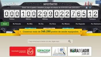 Brasileiros já pagaram mais de R$ 100 bilhões em impostos em 2013