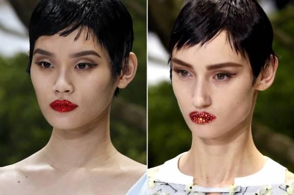 Tenha a versão da boca brilhante do desfile da Dior para o carnaval