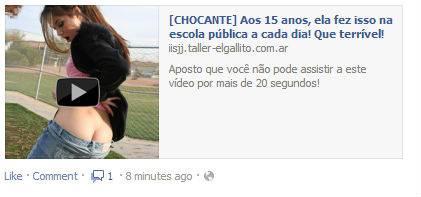 Vírus do Facebook é disfarçado de vídeo de menina tirando roupa