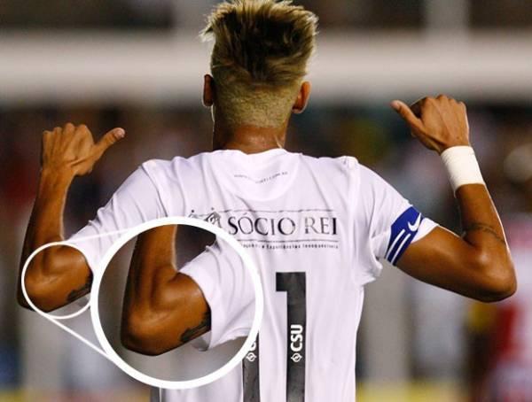 Neymar faz nova tatuagem, mas desenho ainda é mistério