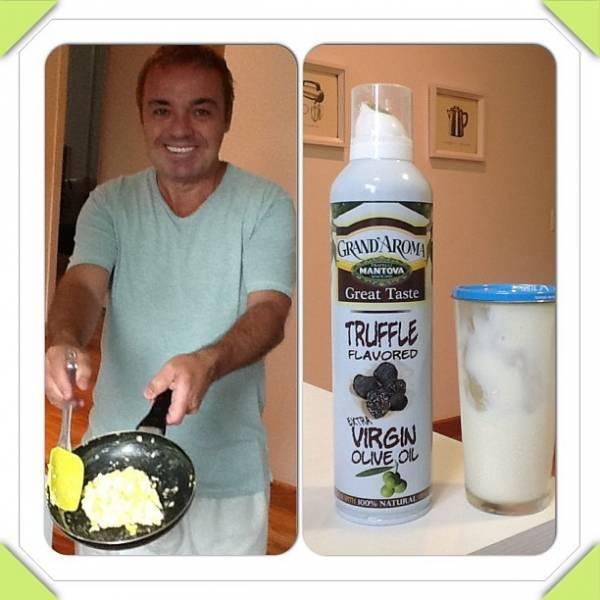 Gugu Liberato vai para a cozinha e ensina receita de ovos mexidos