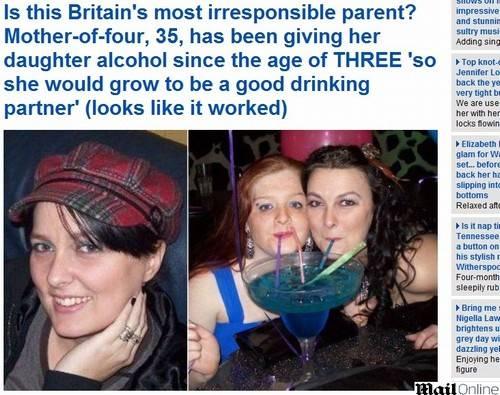Mãe dá bebida alcoólica à filha desde os 3 para ter companheira de noitada