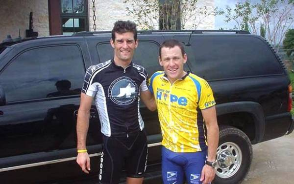 Webber, da F-1, termina amizade com Armstrong: