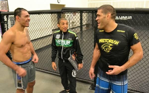 José Aldo, Minotouro e Pezão treinam juntos para UFC que terá 5 brasileiros
