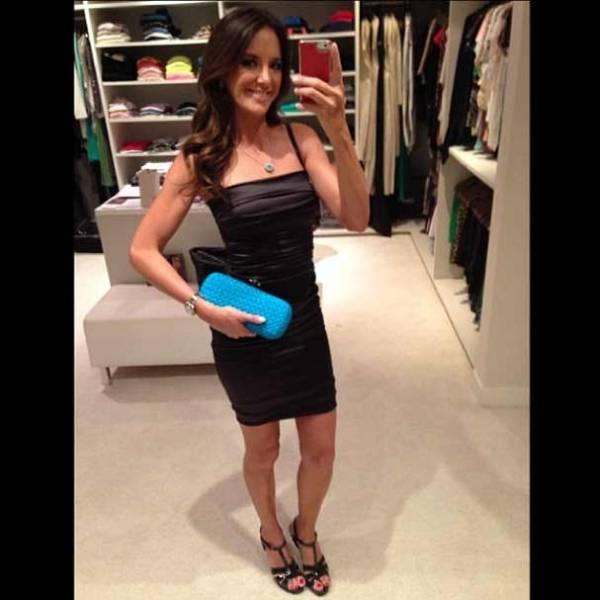 Magreza de Ticiane vira assunto após foto com vestido justinho no closet