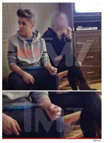 Justin Bieber é flagrado com cigarro suspeito na mão