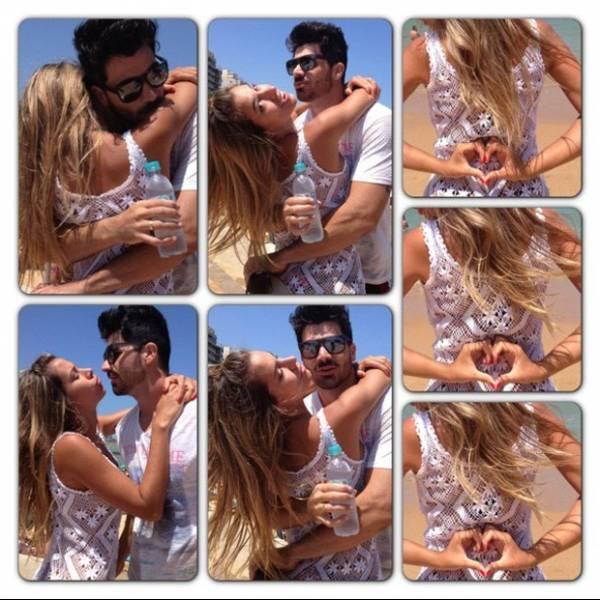 Ex-BBBs Adriana e Rodrigão posam juntos em clima de romance