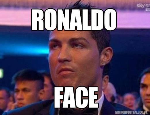 Decepção de Cristiano Ronaldo em prêmio vira piada na web