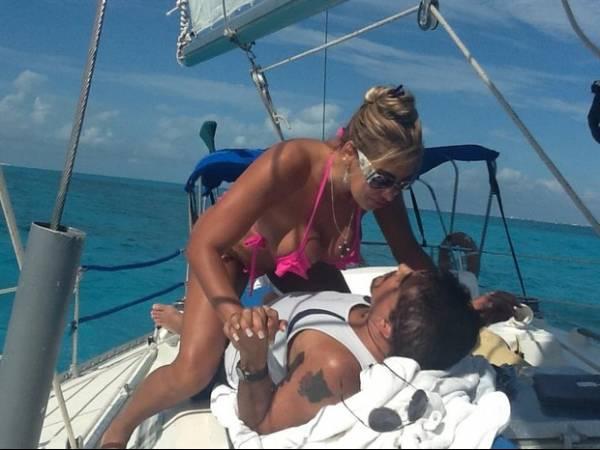 Lua de mel de Ângela Bismarchi no Caribe pega fogo