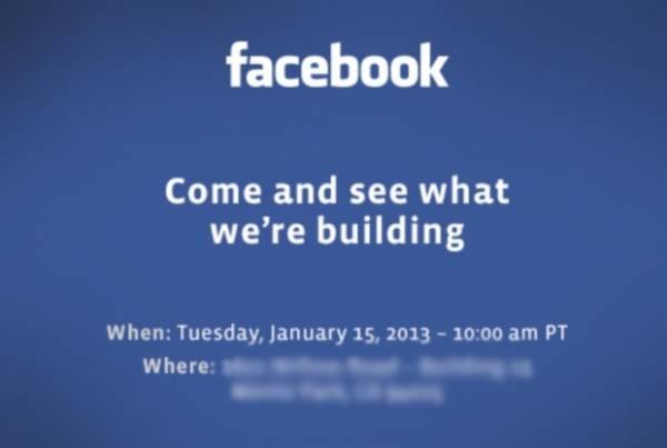 Facebook convoca imprensa para apresentar surpresa no próximo dia 15