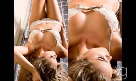 Musa de marca de cerveja, mostra curvas em lingeries sensuais