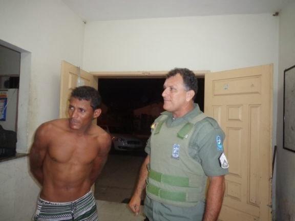 Acusado de estupro é capturado pela polícia militar de Buriti dos Lopes