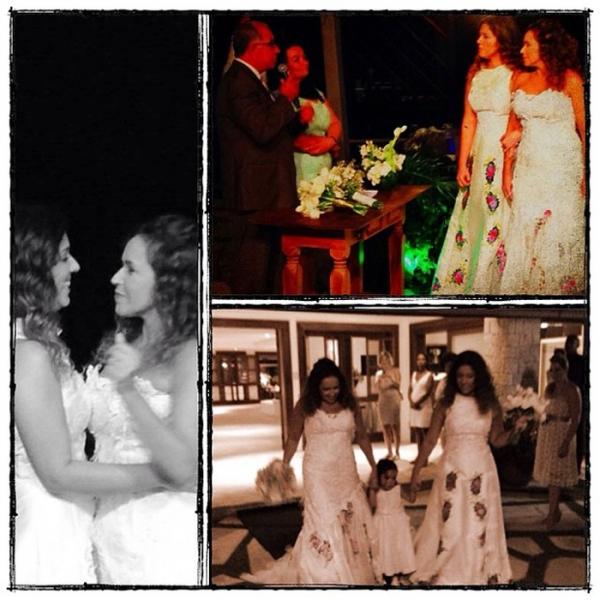 Daniela Mercury se casa com Malu Verçosa: