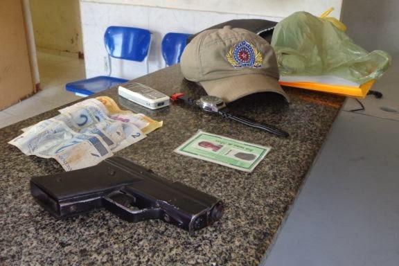 Homicida é preso com arma artesanal no mercado da cidade de Cocal