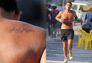 Ex-marido diz que não vai apagar tatuagem do nome de Ana Maria Braga