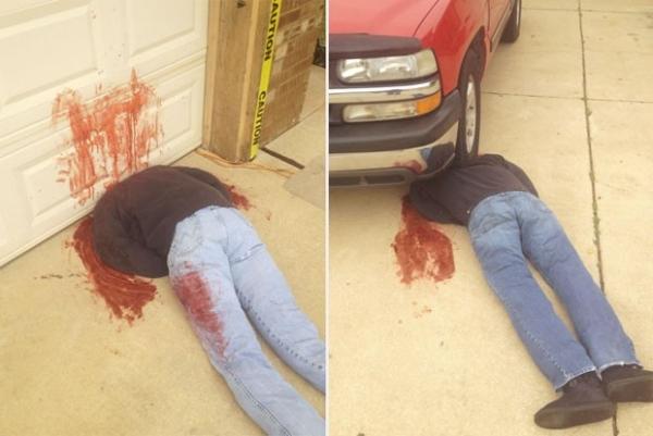 Família choca ao usar decoração assustadora para Halloween nos EUA