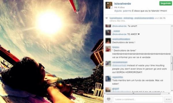 Apontada como affair de Cauã Reymond, Isis Valverde recebe críticas na web