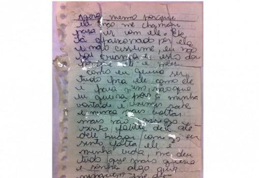 Diário achado em chacina revela relação com amor e droga: