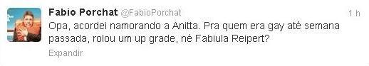 Fábio Porchat ironiza notícias sobre possível affair com Anitta