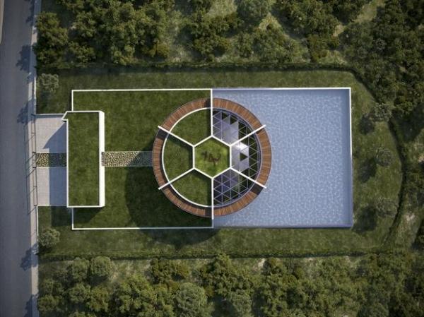Arquiteto cria mansão para Messi em forma de campo de futebol