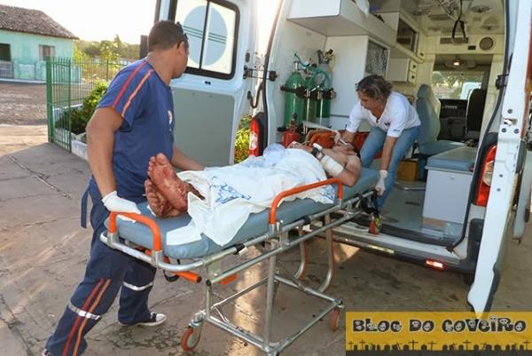 Homem fica gravemente ferido após ser lesionado a facadas