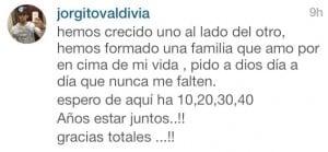 Valdivia xinga seguidor após acusação de estar traindo sua esposa