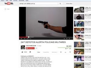 Defesa de PM que matou jovem alega que 98 mil  armas passaram por recall