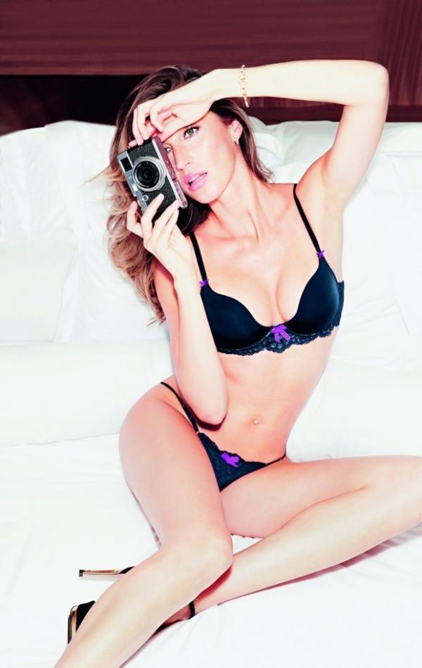 Gisele Bündchen diz a revista que gosta de usar calcinha fio dental