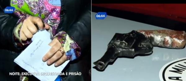 Ladrões usam revólver de gesso para sequestrar gerente farmacêutica