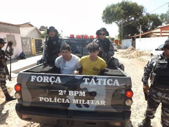 Quadrilha é presa após roubar carros e mais de R$ 72 mil