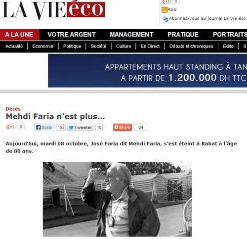 Ex-técnico José Faria morre no Marrocos e tem velório de ídolo no país