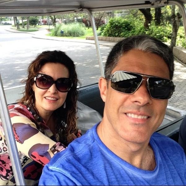 Casal Bonner e Fátima madruga em pleno domingo para gravação