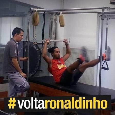 Ronaldinho acorda cedo para treinar forte e voltar logo: ?Quero estar 100% para o Mundial?