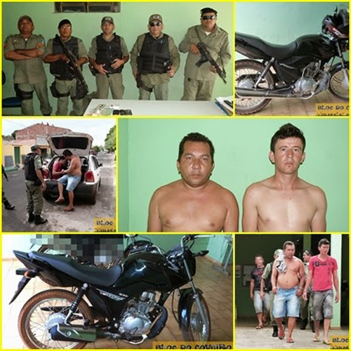 PM recupera moto roubada e prende 2 suspeitos no interior