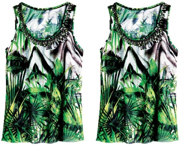Floresta Hype: aposte em roupas com estampas de folhas e de árvores com acessórios de efeito natural