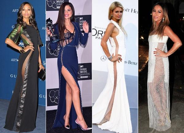 Vestido com transparência na lateral é hit entre famosas. Saiba como usar