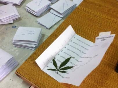 Maconha é encontrada dentro de cédula eleitoral no Chile