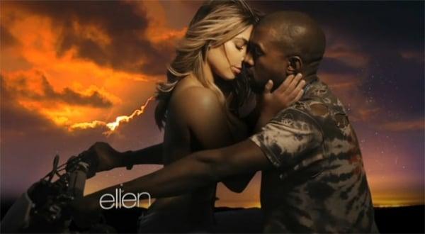 Kim Kardashian aparece ultrassexy em novo v冝eo de rapper Kanye West