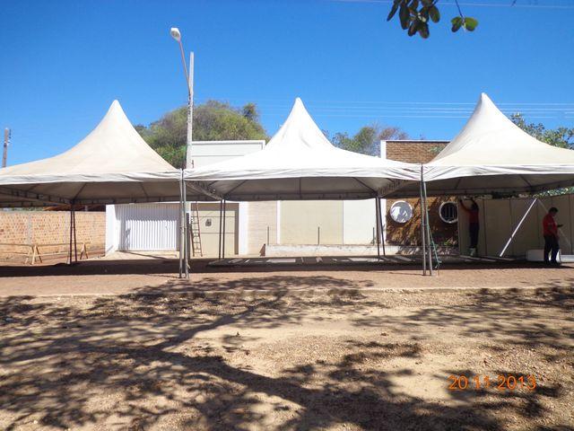 Estrutura da 25ª Festa do Leite em São José do Divino já está sendo montada