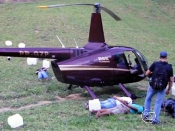 Helicóptero com cocaína no ES é da família do senador Zezé Perrella