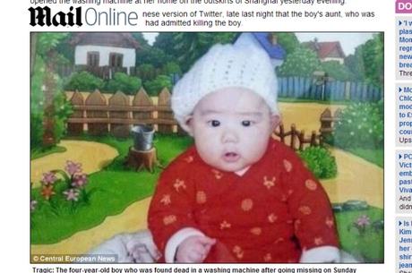 Chinesa mata sobrinho de 4 meses com saco  plástico e esconde corpo