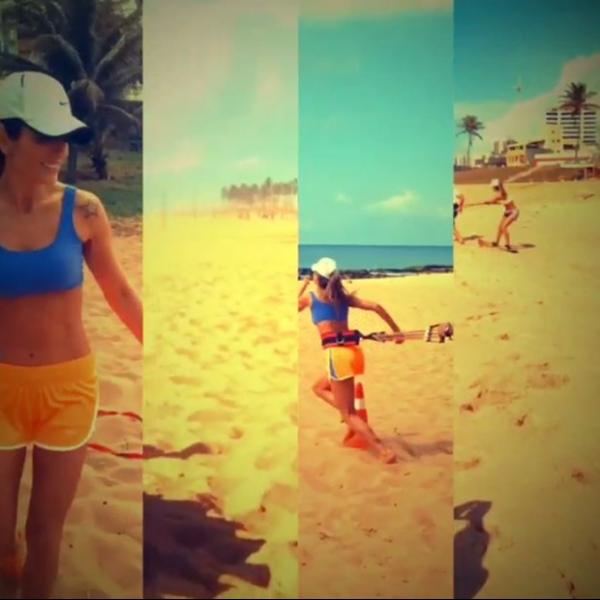 Carol Magalhães pega pesado e faz crosscore em treino na areia da praia