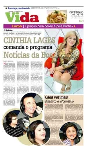 Cinthia Lages comanda o programa Notícias da Boa