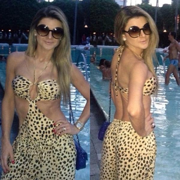 Mirella Santos se diverte em pool party badalada em Miami e exibe corpão