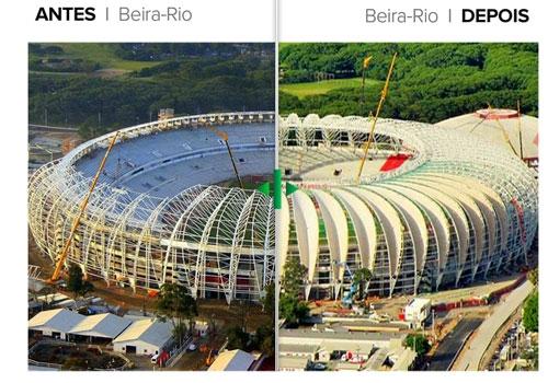 A um mês da entrega, reforma do Beira-Rio avança; veja antes e depois