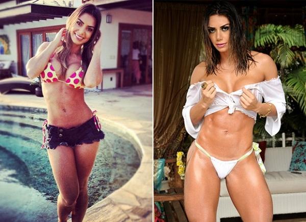 Graciella Carvalho ganha cinco quilos de m俍culos em um m黌