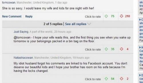 Inglês comenta em site que largaria esposa por modelo e acaba sozinho